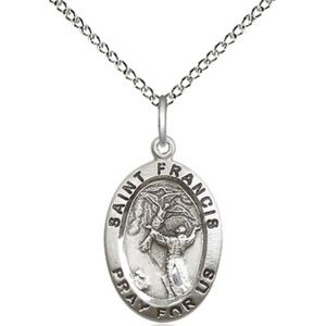 Sterling Silver St Francis of Assisi Pendant